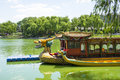 Asia China, Beijing, Longtan Lake Park,Dragon Boat Royalty Free Stock Photo