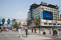 Asia china beijing wangfujing street commercial street and the most famous in the now has s largest Stock Images