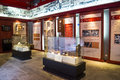 Asia china beijing xuan nan cultural museum indoor exhibition hall, historical architecture hall,exhibition of the carpenter s Royalty Free Stock Photography