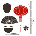 Asia china isolated objects on white background vector illustration eps Stock Image