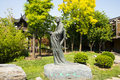 Asia Chinese, Beijing, Garden Expo,Landscape sculpture, Chinese Ming Dynasty painter, Zhu Da Royalty Free Stock Photo
