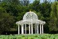 Asia Chinese, Beijing, Jianhe Park, white Pavilion, lotus pond Royalty Free Stock Photo