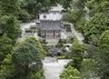 gazebo pavilion in Chinese garden park Royalty Free Stock Photo