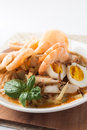 Asia cuisine lontong ketupat rice cake Royalty Free Stock Photo