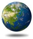 Asia earth globe Royalty Free Stock Photo