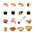 Asia Food Icon Set
