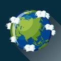 Asia globe icon. Royalty Free Stock Photo