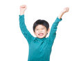 Asia little boy excited isolated on white Stock Images