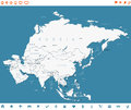 Asia - Map And Navigation Labe...