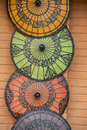 Asia myanmar bagan shop umbrella a souvenier in new in in southeastasia Royalty Free Stock Images