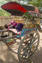 ASIA MYANMAR BAGAN TRANSPORT PEOPLE Royalty Free Stock Photo