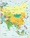 Asia region political divisions map area geographical location on the globe Stock Photo