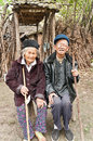 Asia s rural couples china poor old man Royalty Free Stock Photo