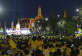 Asia thailand bangkok coronation day tousends of thai people at the ceremony of the of the king bhumibol on the sanam square park Stock Photos
