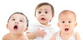 Shocking babies Royalty Free Stock Photo