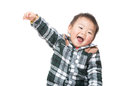 Asian baby boy feeling excited Stock Photos