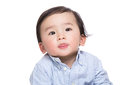 Asian baby boy making funny face Royalty Free Stock Photo