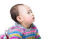 Asian baby boy side profile Royalty Free Stock Photo