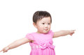 Asian baby girl open arm Royalty Free Stock Photo
