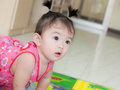 Asian baby girl portrait of Stock Photography