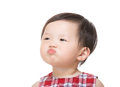 Asian baby girl pout lip Stock Images