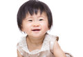 Asian baby girl smile isolated on white Royalty Free Stock Photo