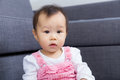 Asian baby at home Royalty Free Stock Photos