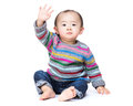 Asian baby say hi Royalty Free Stock Photo