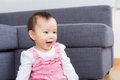 Asian baby smile Royalty Free Stock Image