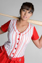 Asian Baseball Player Royalty Free Stock Photo