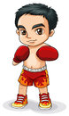 An asian boxer illustration of on a white background Stock Image
