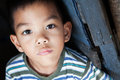 Asian boy portrait child from the philippines in natural light Royalty Free Stock Photos