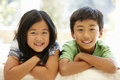 Asian brother and sister Royalty Free Stock Photo
