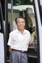 Asian bus driver Royalty Free Stock Photo