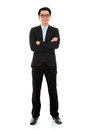 Asian business man full body young isolated on white background Royalty Free Stock Photo