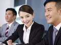 Asian business people young businesswoman in a meeting Stock Photo