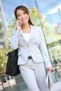 Asian Business Woman on Cell Phone Royalty Free Stock Photo