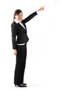 Asian business woman pointing. Royalty Free Stock Images