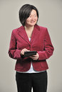 Asian business woman with tablet computer Royalty Free Stock Images