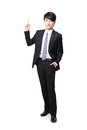Asian businessman standing full length Royalty Free Stock Images