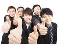 Asian businessteam with thumbs up Stock Photography