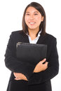 Asian businesswoman with documents Royalty Free Stock Photo