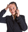 Asian Businesswoman And Smartphone V Royalty Free Stock Photo