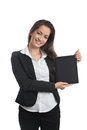 Asian Businesswoman with tablet pc Royalty Free Stock Photos