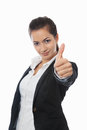 Asian Businesswoman with thumb up Royalty Free Stock Images