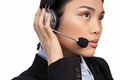Asian call centre operator Royalty Free Stock Images