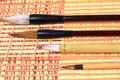 Asian calligraphy brushes