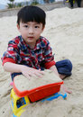 Asian child on the Beach Stock Image