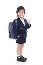 Asian child in school uniform
