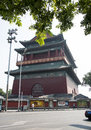 Asian China, Beijing, ancient architecture, the Drum Tower Royalty Free Stock Photo